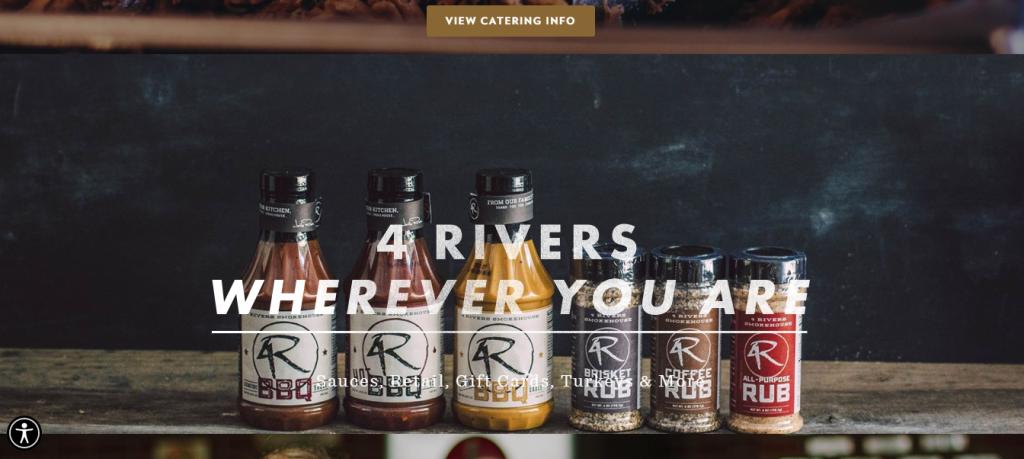 4 Rivers Smokehouse homepage