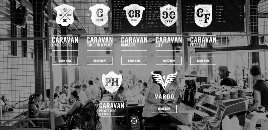 Caravan homepage