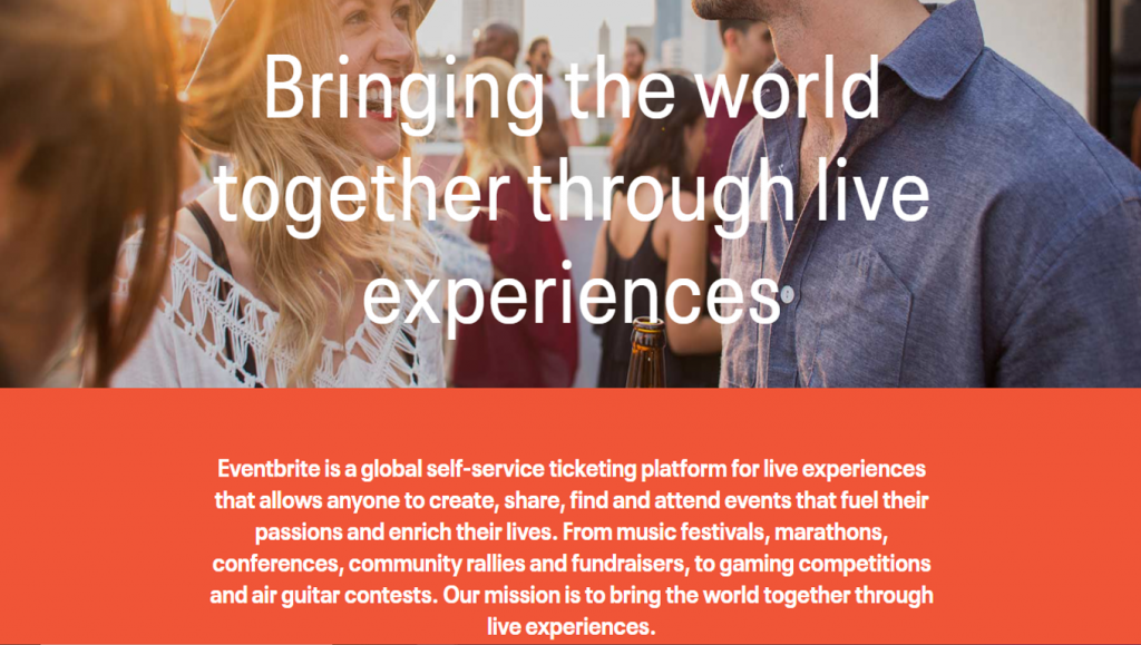 Eventbrite about page