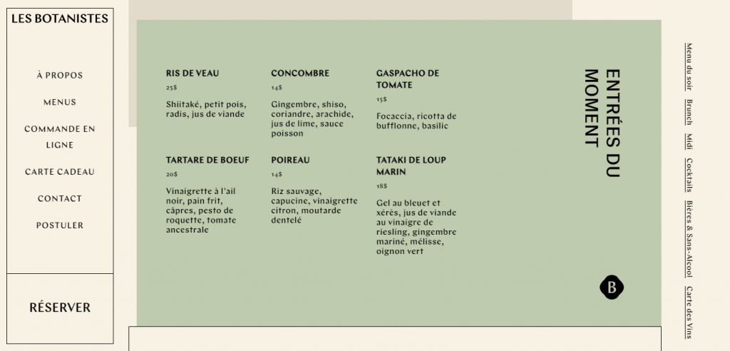 Les Botanistes homepage