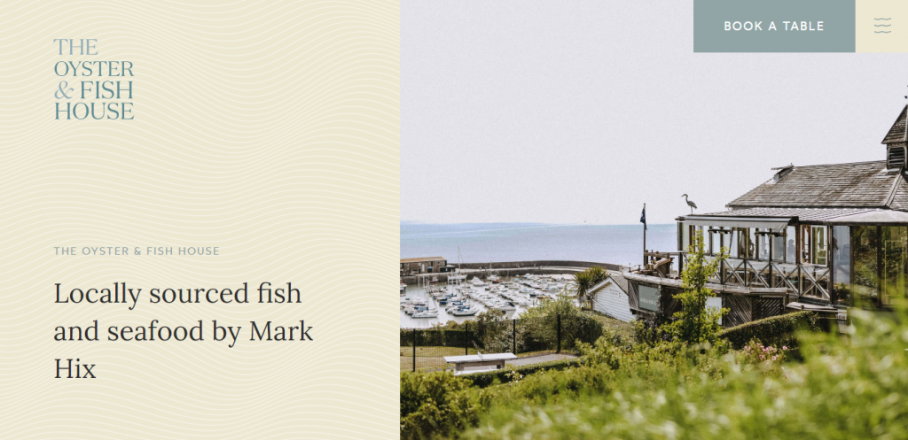The Oyster & Fish House homepage