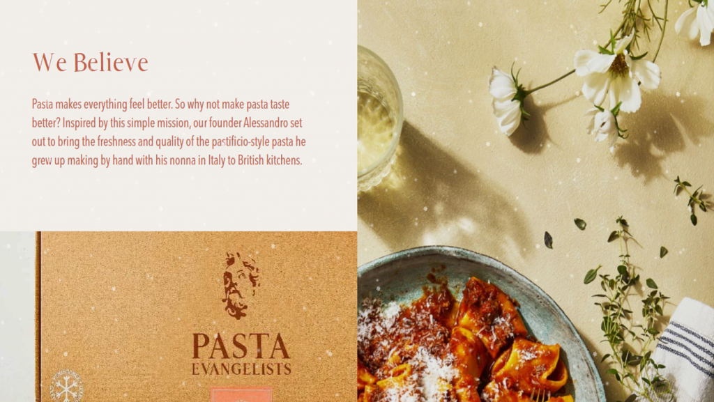 Pasta Evangelists about page