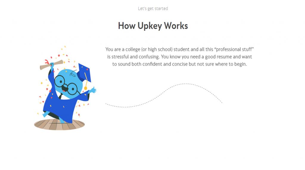 Upkey about page