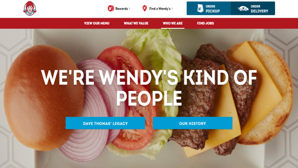 Wendy's about page