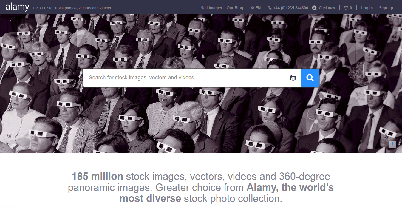 Alamy home page