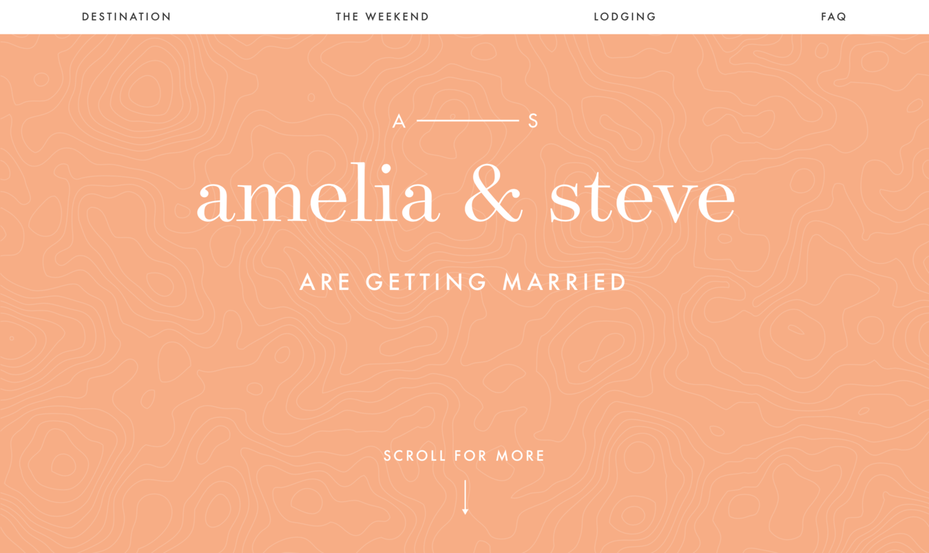 Wedding Website of Amelia and Steve