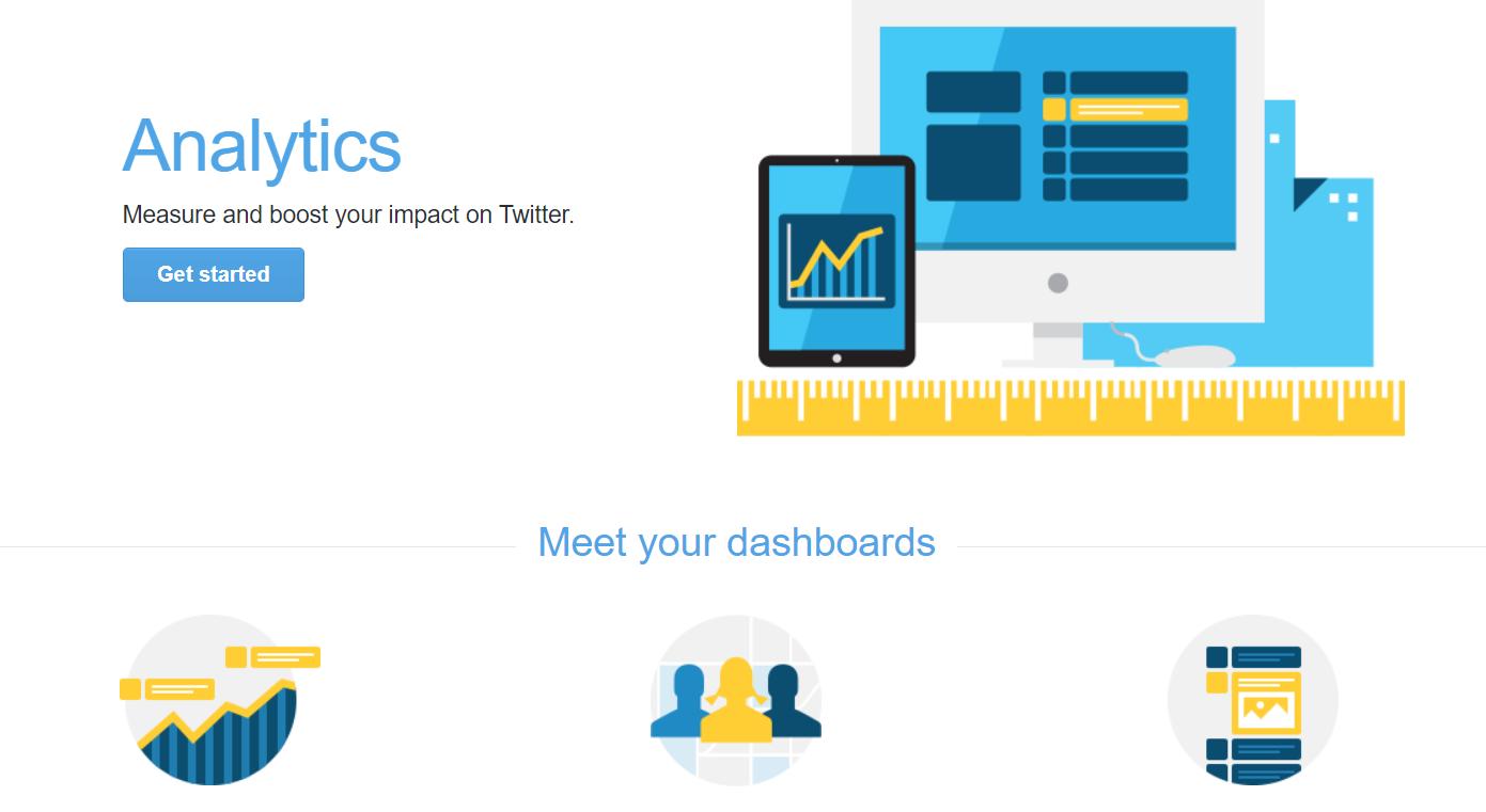 Twitter Analytics main page