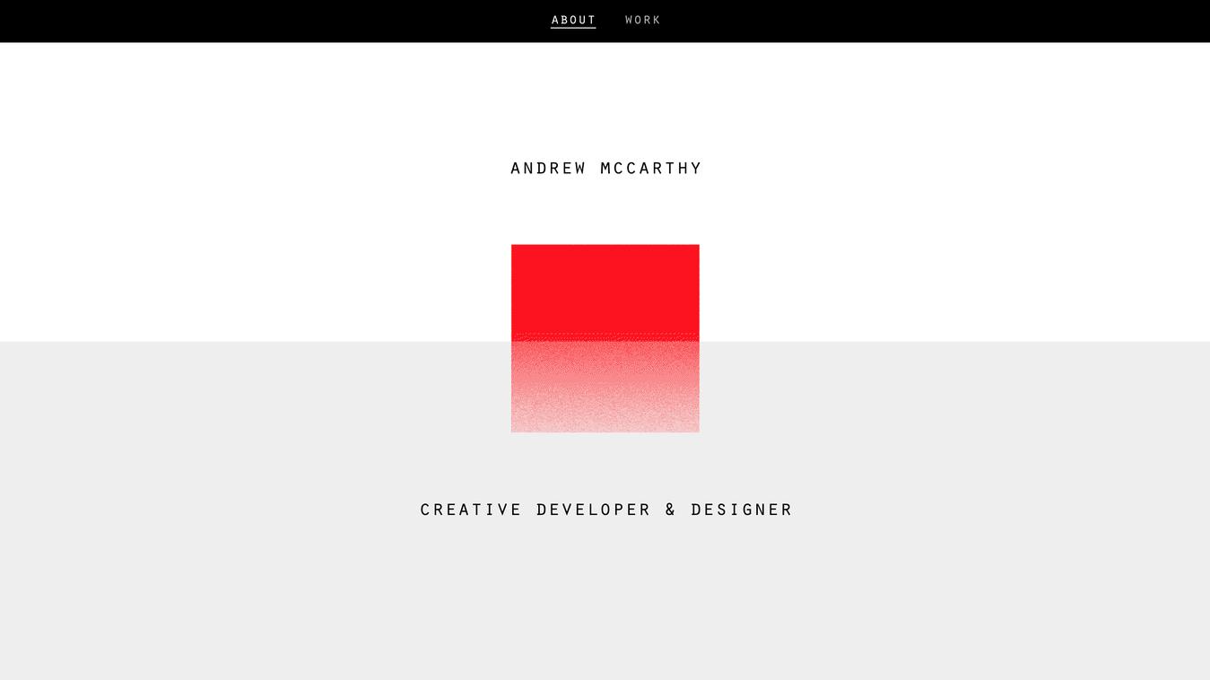 Andrew McCarthy's Resume Website