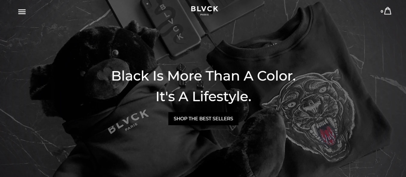 Blvck homepage