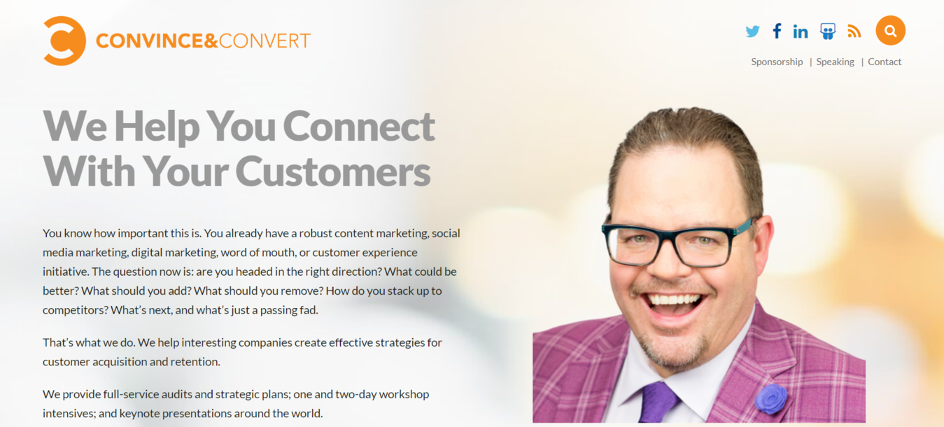 Convince and Convert homepage