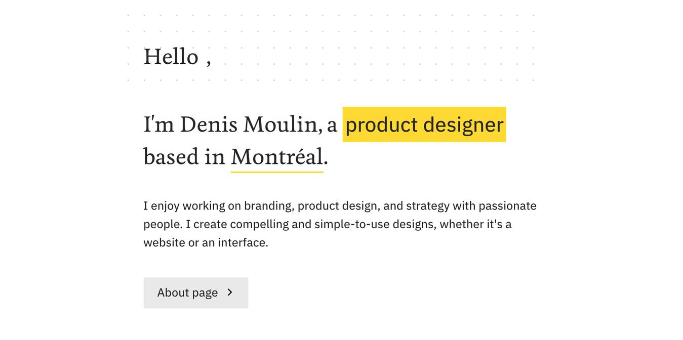 Resume Website of Denis Moulin