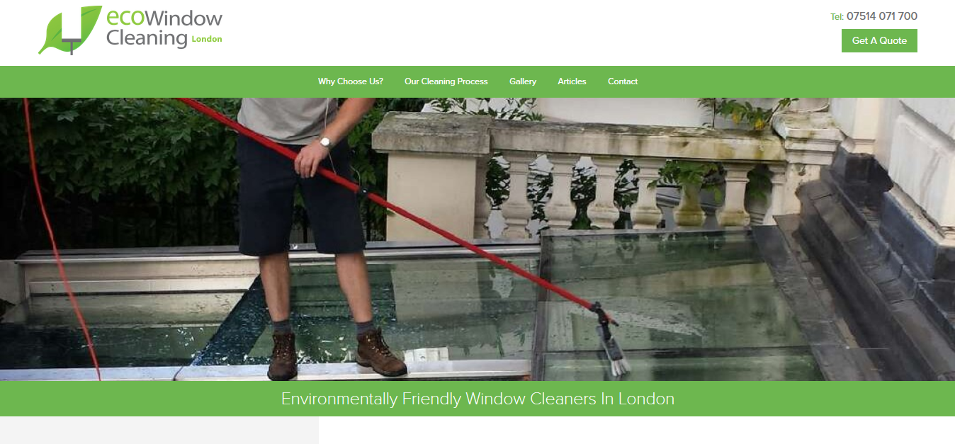 London ECO window cleaning's business homepage