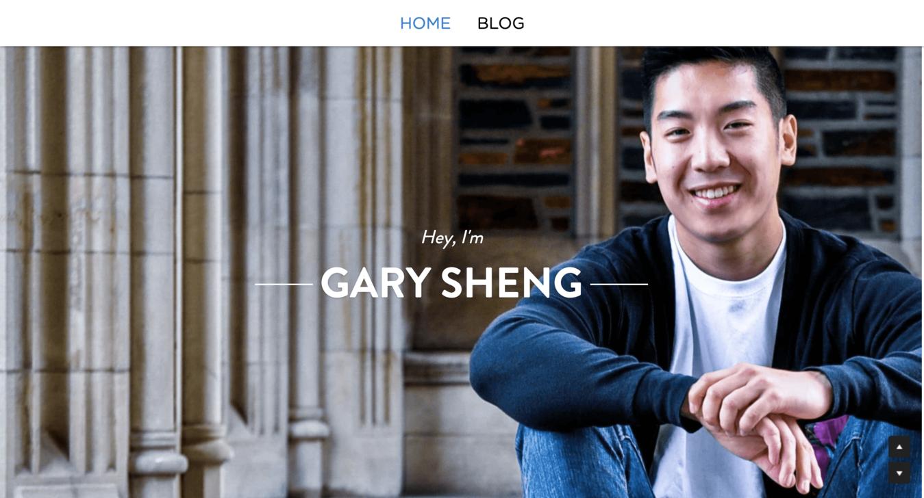 Resume Website of Gary Sheng