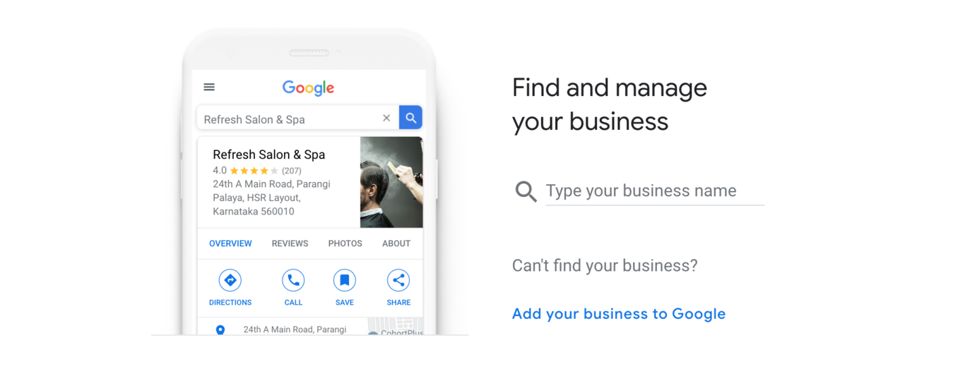 Google My Business management page