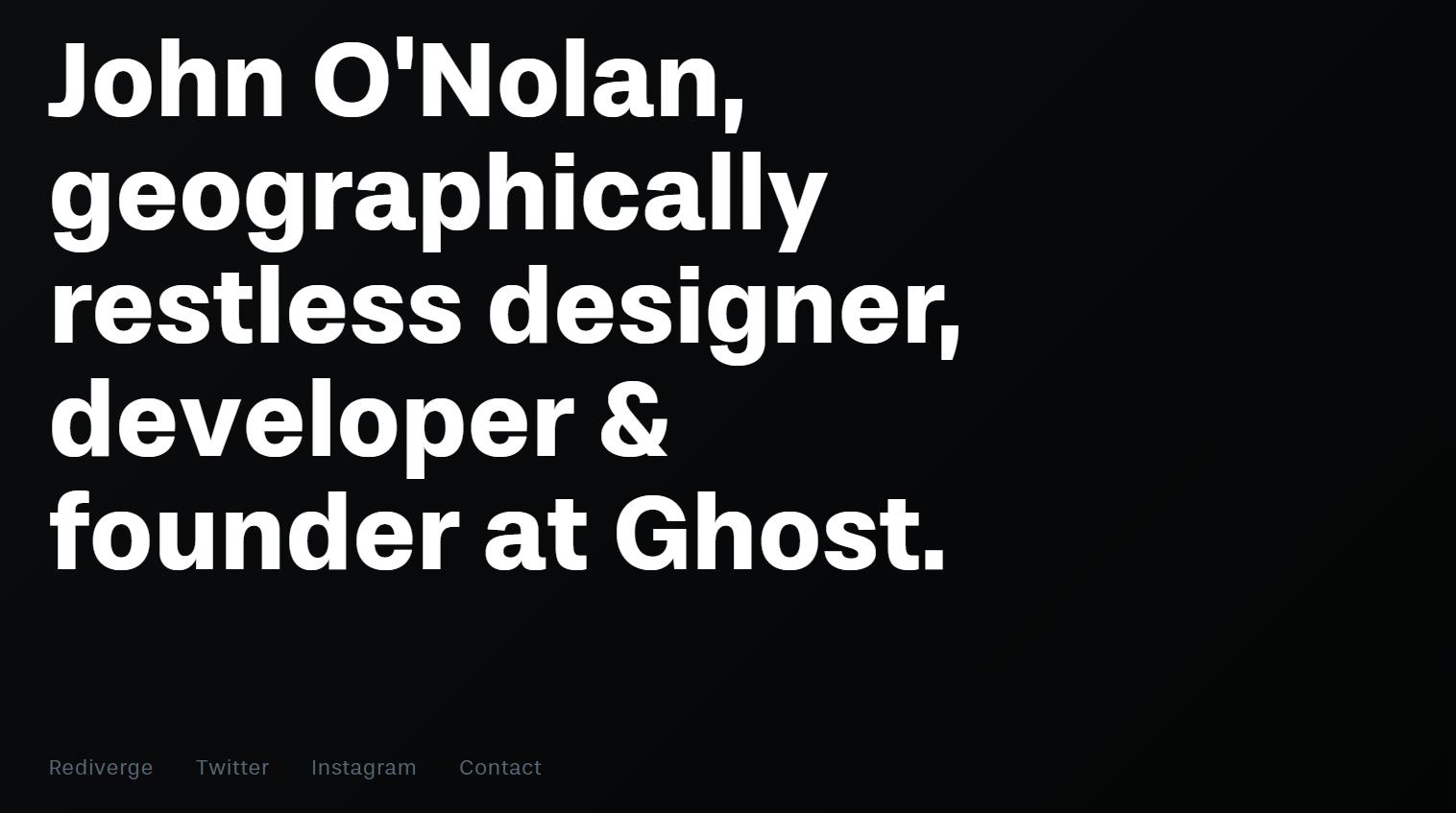 John O'Nolan's website homepage