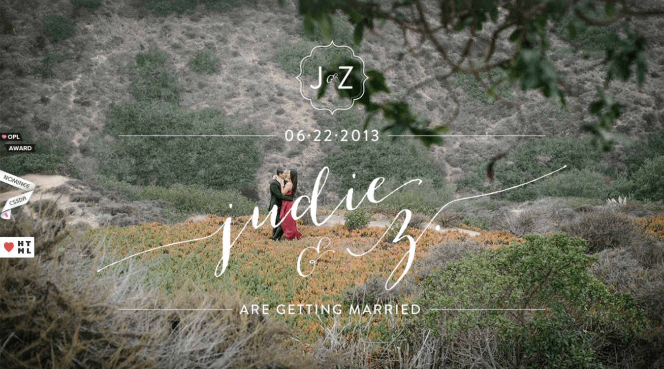 Wedding Website of Judie and Z