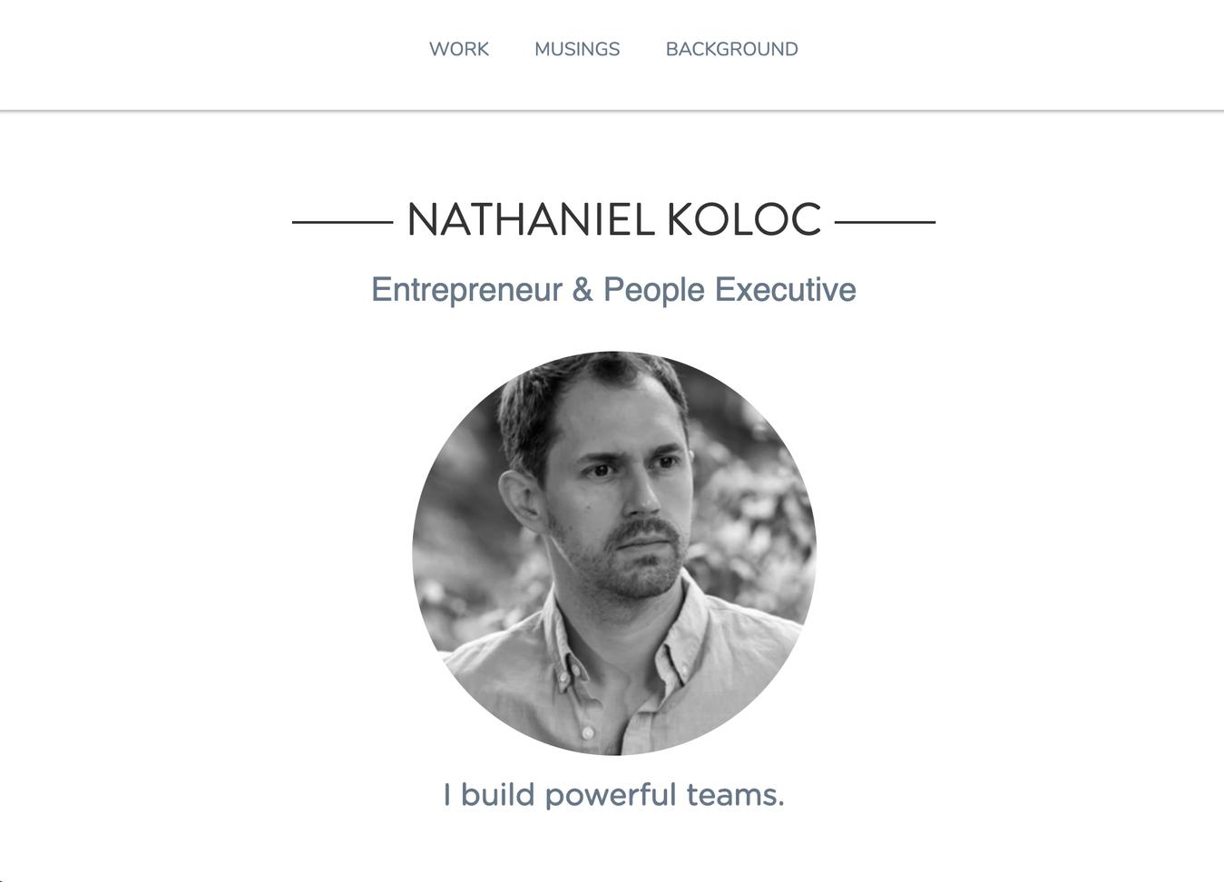 Nathaniel Koloc's Resume Website