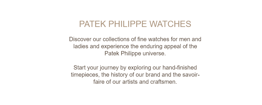 Patek Phillipe's value proposition talks about their brand