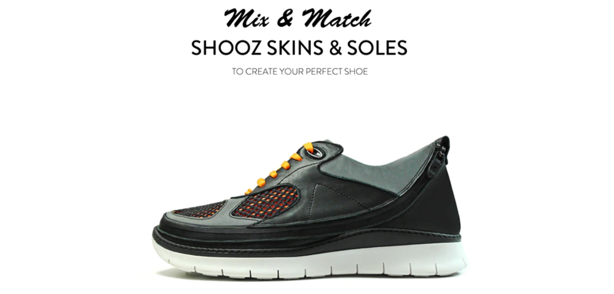 Image of Shooz' product and its novelty value proposition