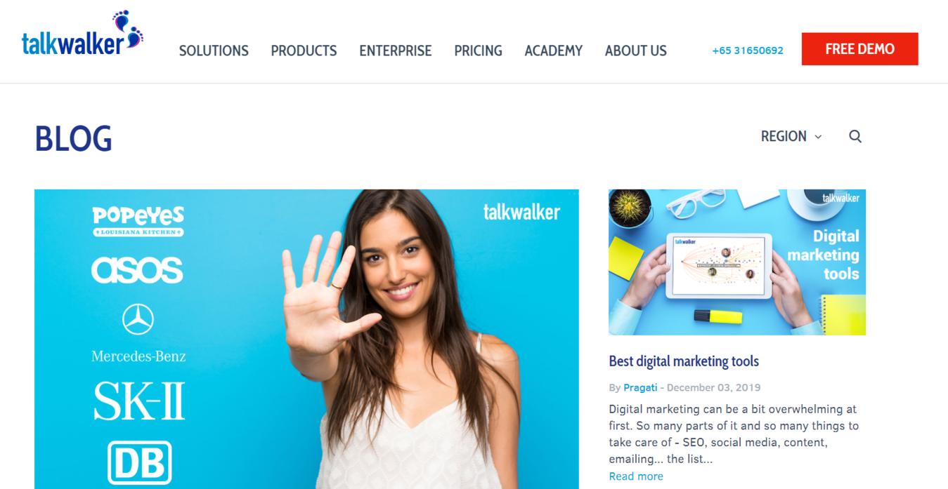 Talkwalker Blog homepage