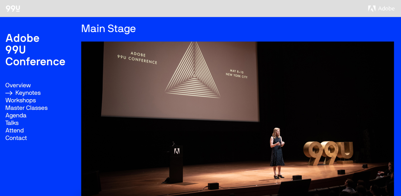 99u Conference Website Screenshot
