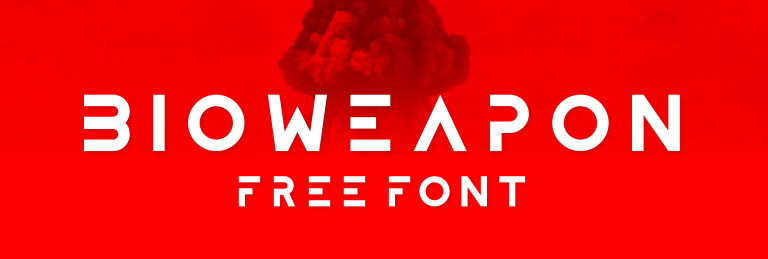 An example of clean fonts Bioweapon font