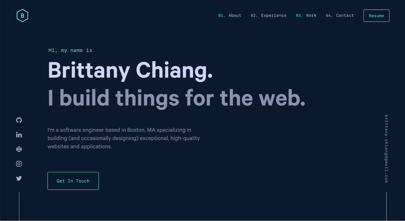 Bitdegree website with Brittany Chiang example