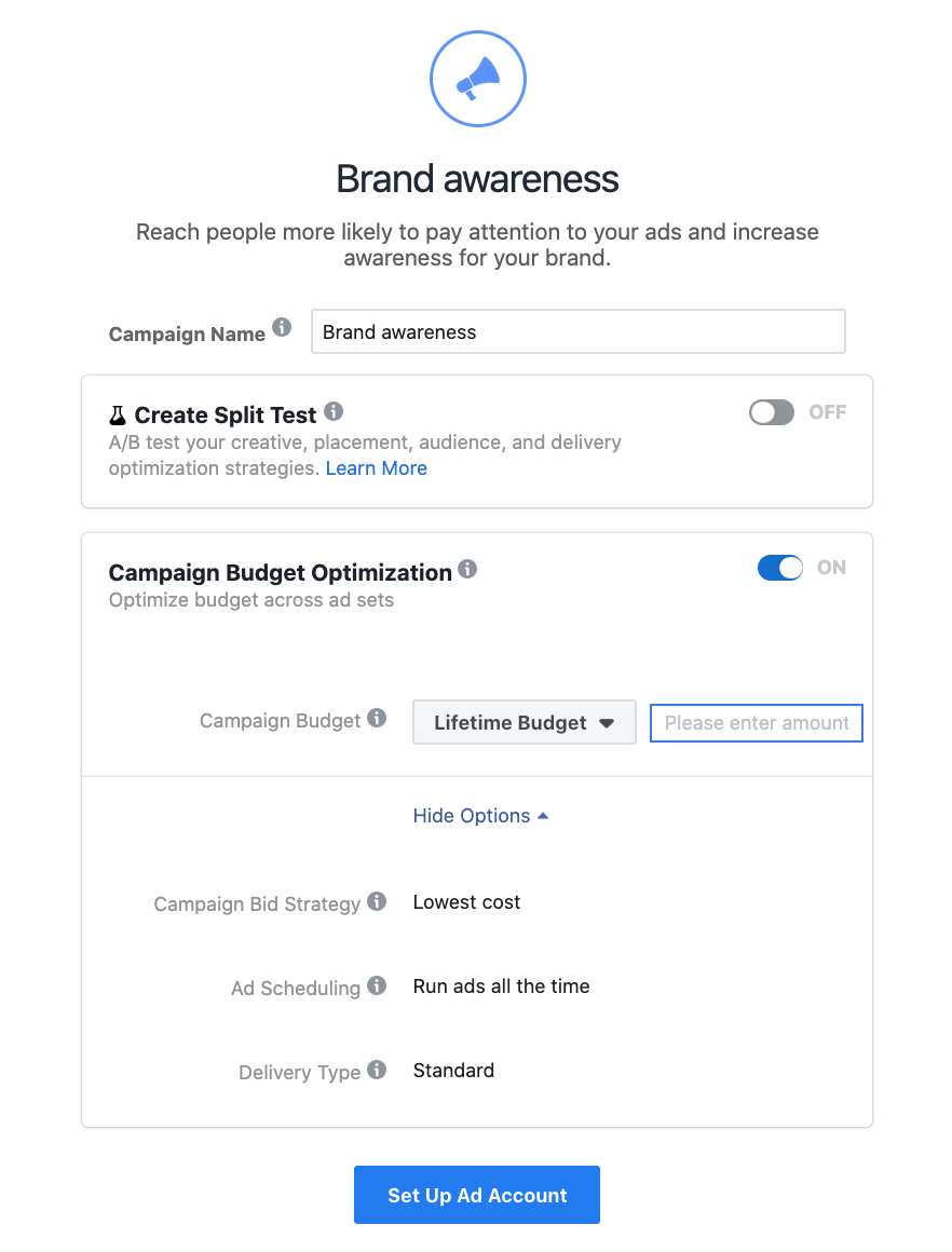 Brand Awareness Objective for Instagram Ads