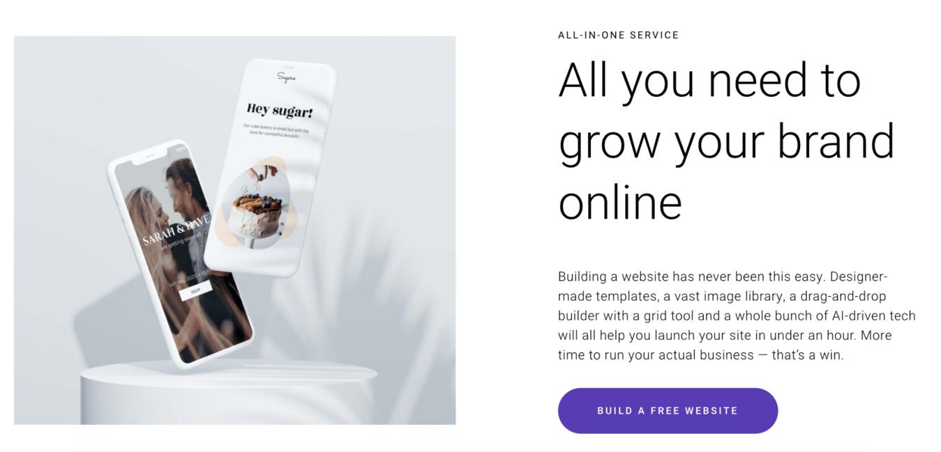 Zyro's free website builder