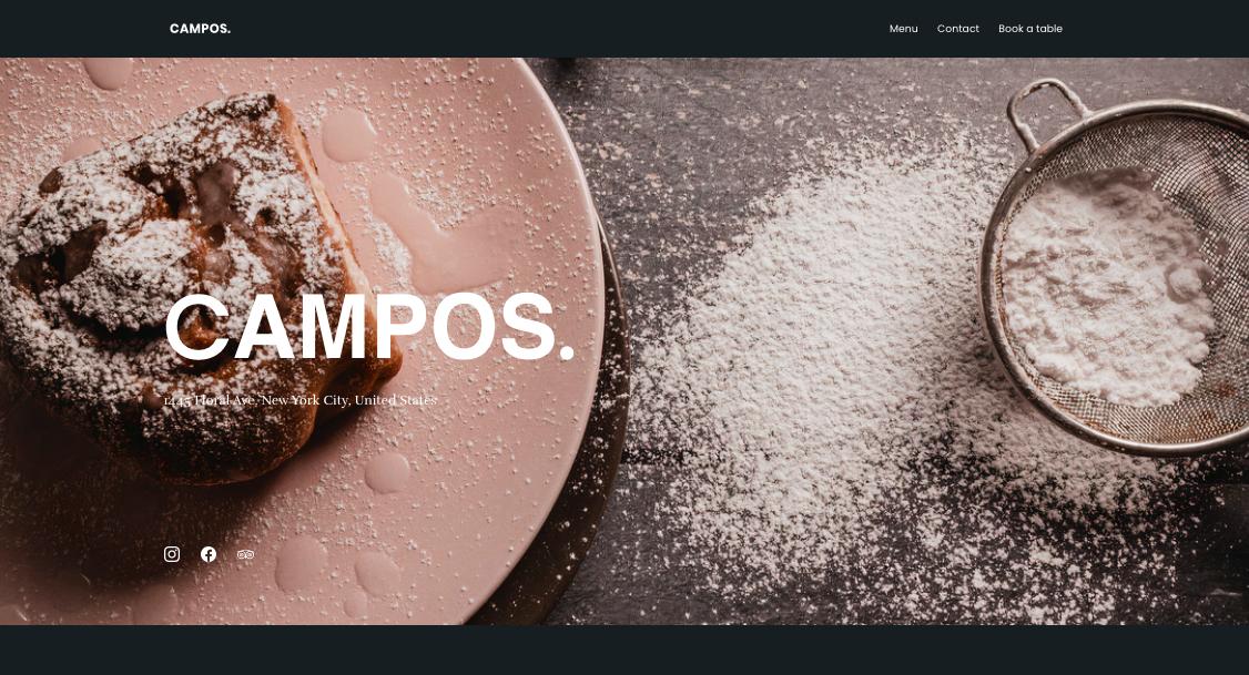 Business Website Homepage