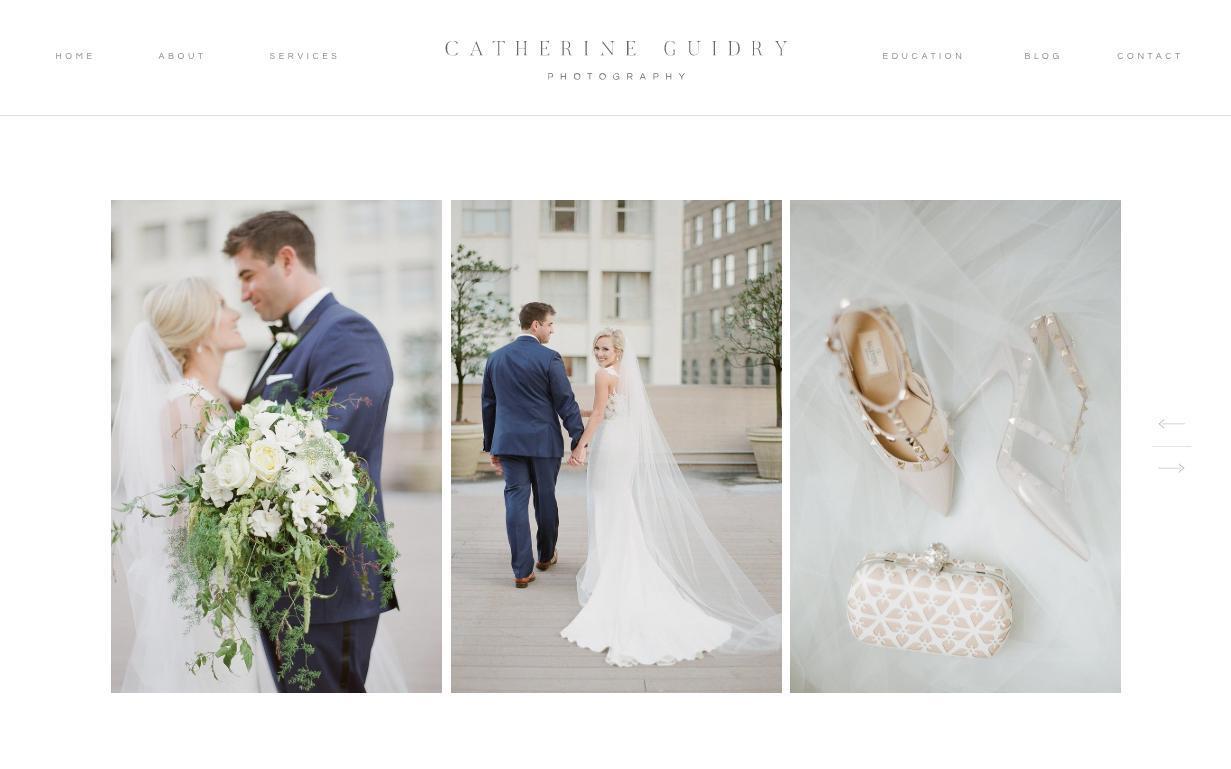Catherine Guidry wedding photography website
