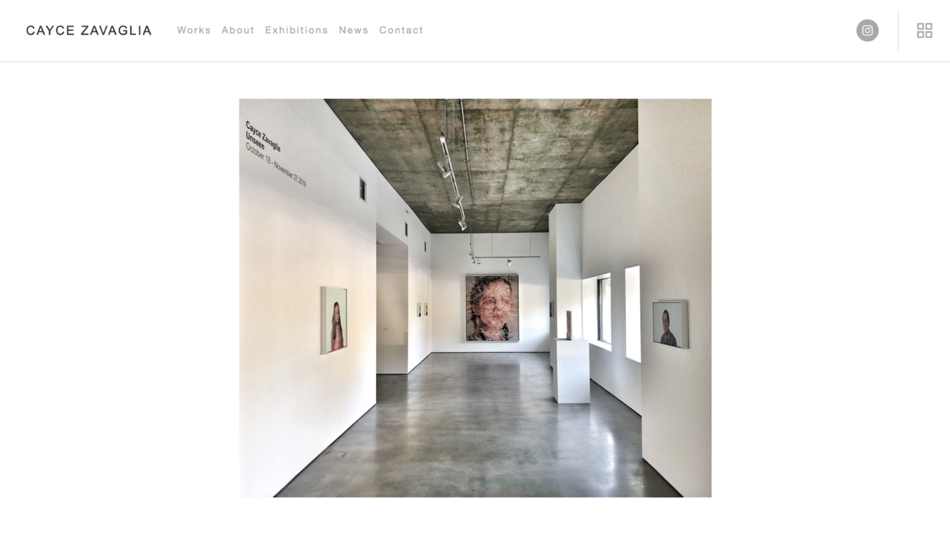 simplistic example of white gallery with piece by cayce zavaglia