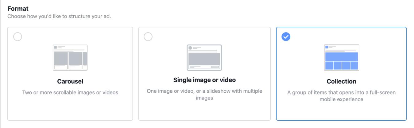 Formats for Instagram Ads