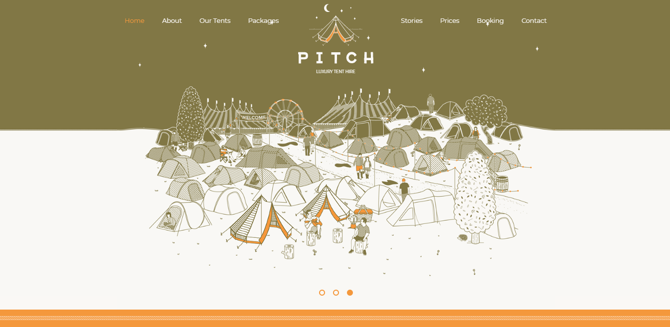 An example of an illustrative website