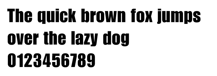 An example of the web safe font impact