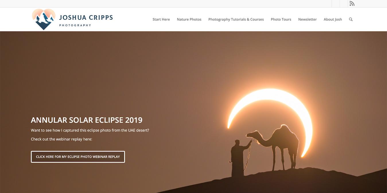 Joshua Cripps Photography Logo Example