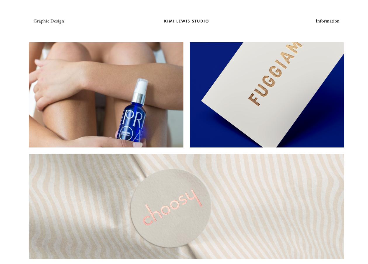 Kimi Lewis artist portfolio website examples