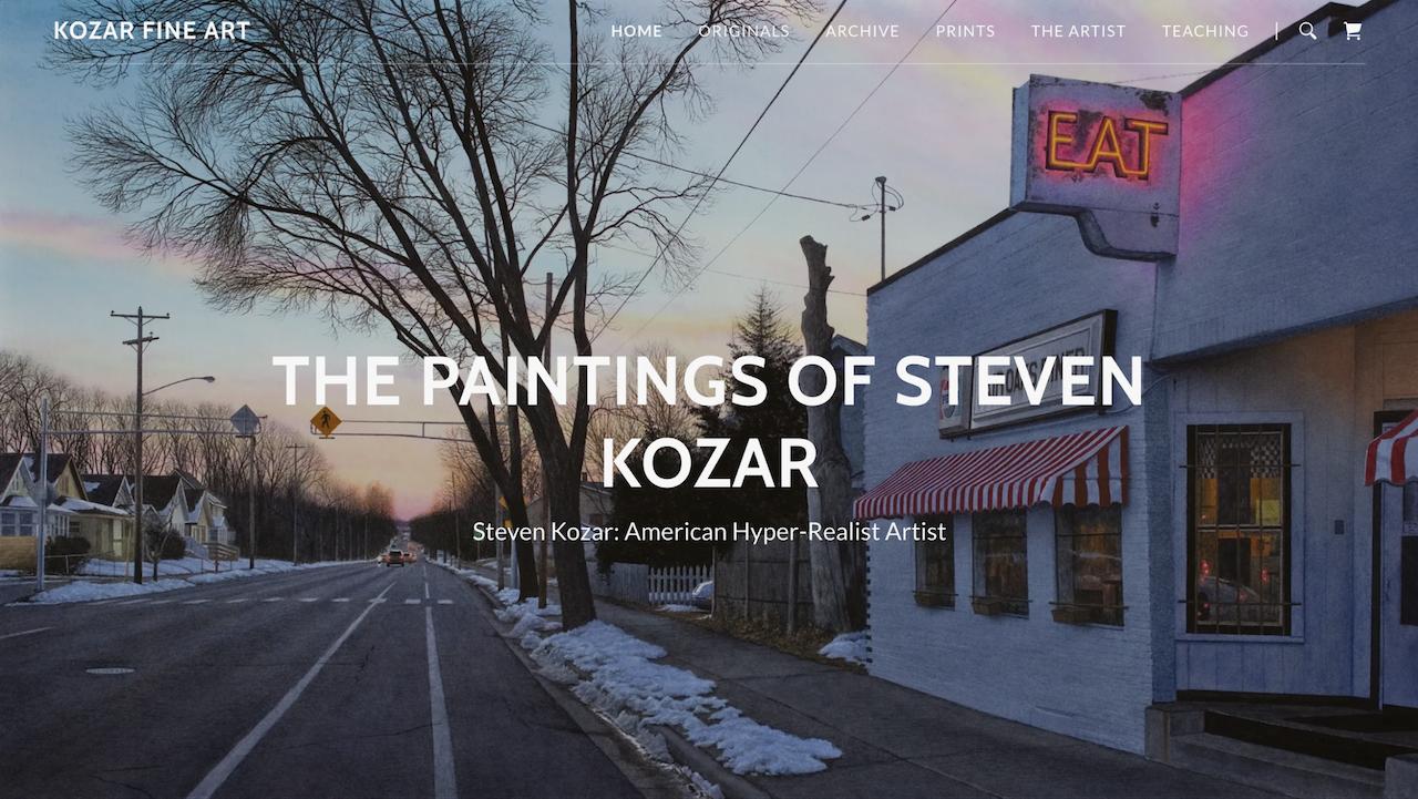 portfolio website example by kozar fine arts
