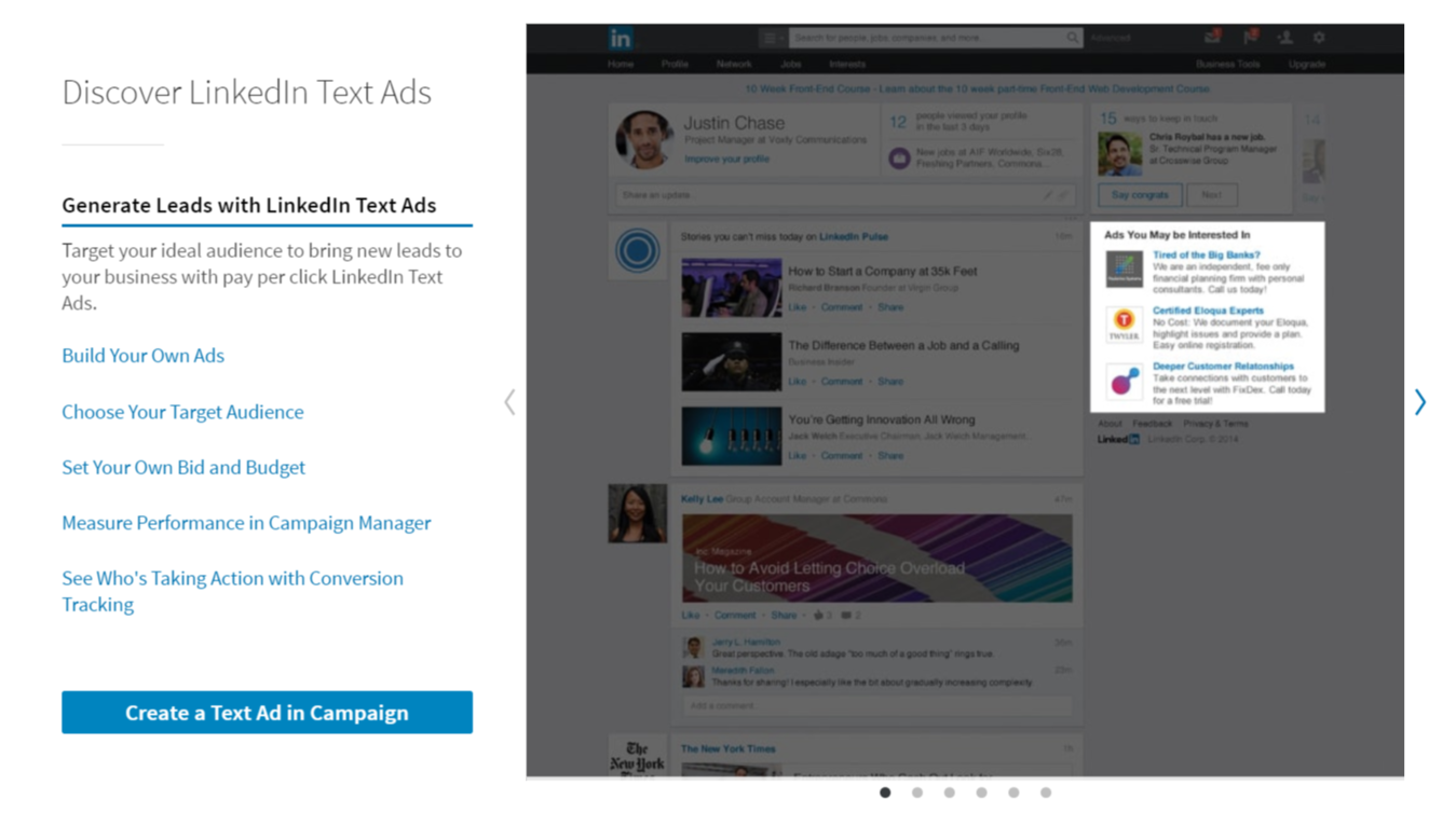 Text Ads in LinkedIn advertising