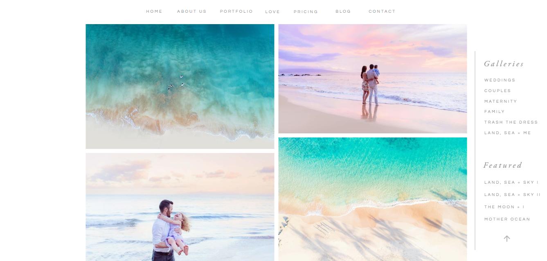 Portfolio fotograficzne Love + Water