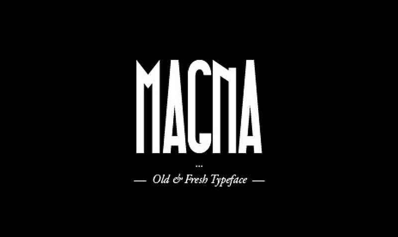An example of Magna font