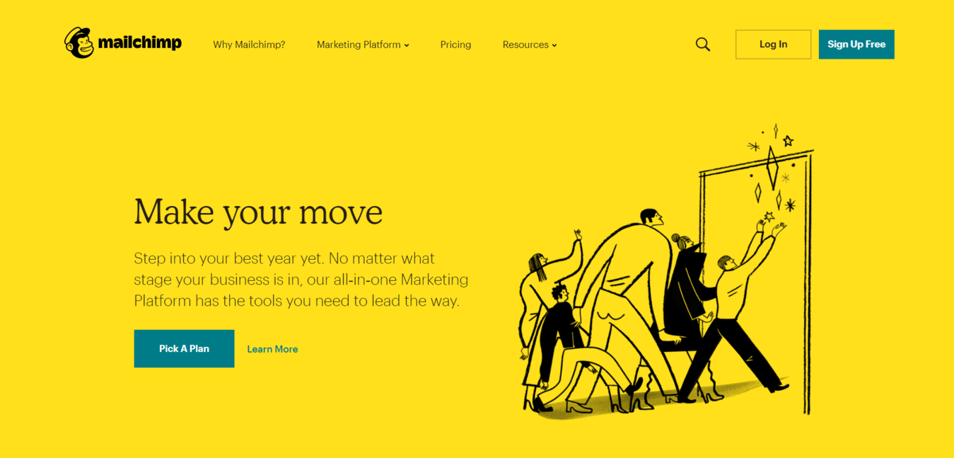 MailChimp website homepage