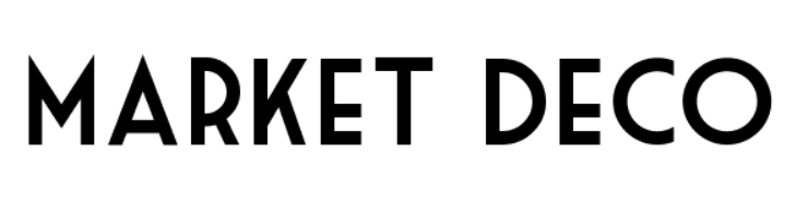 An example of clean fonts Market Deco font