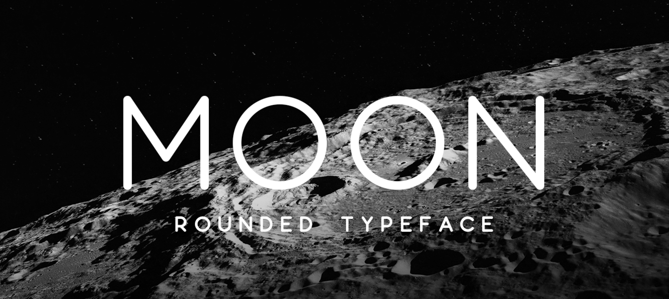 An example of clean fonts Moon font