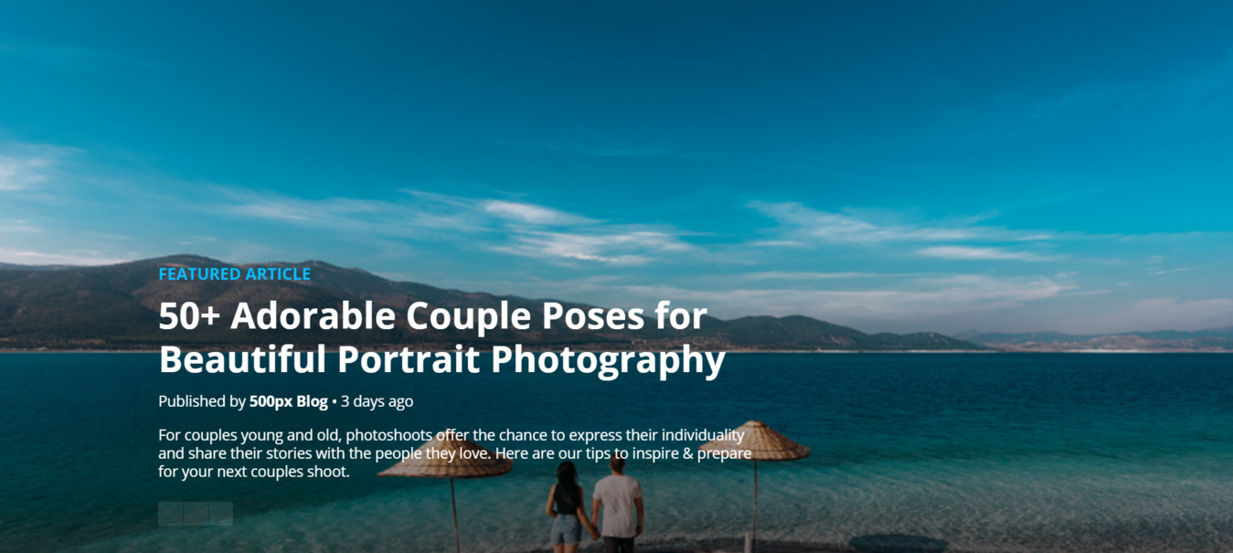 Featured Article of blue clear ocean and 50+ adorable couple poses article