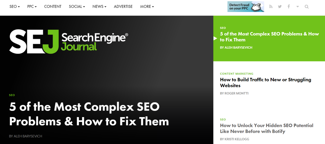 Search Engine Journal SEO blog.