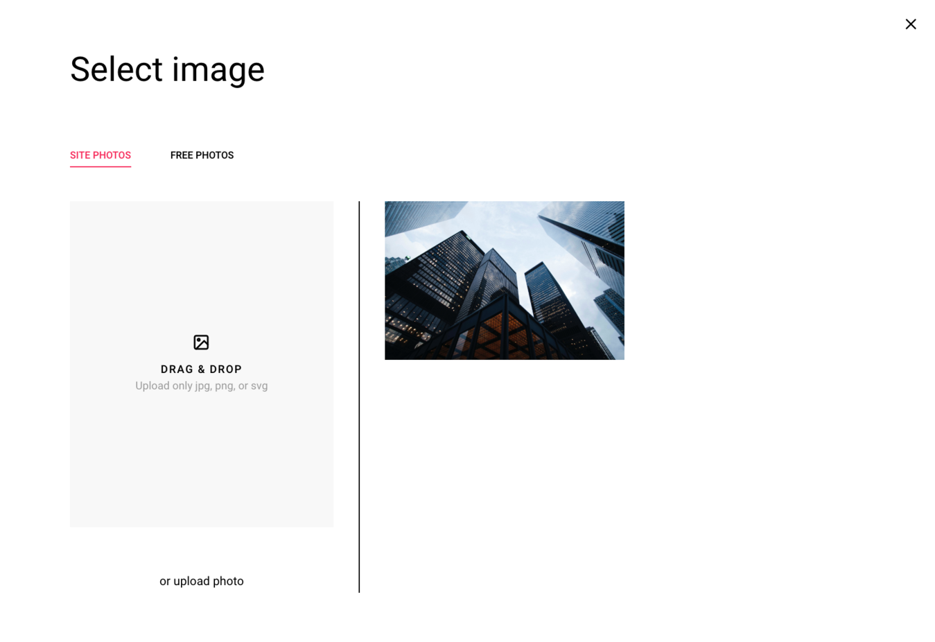 how to design a website on zyro and selecting and image to use