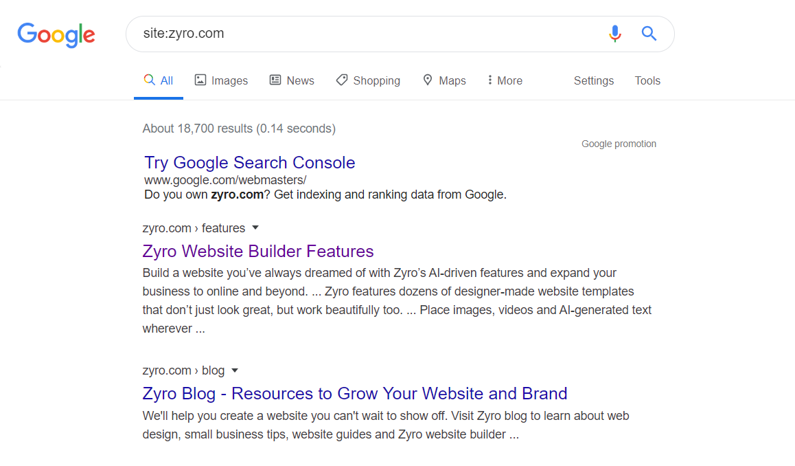 check if your website is indexed