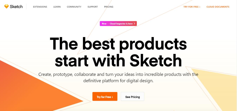 Sketch homepage