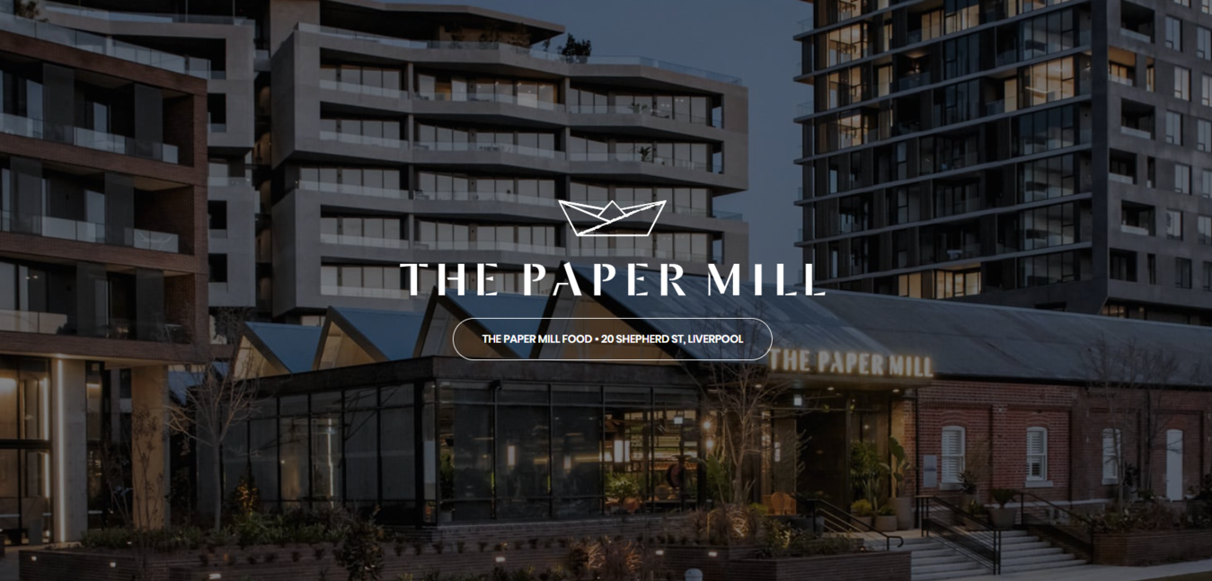 Login page for The Paper Mill website showing the apartments nearby